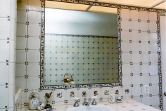 Mirror Recessed into Tile