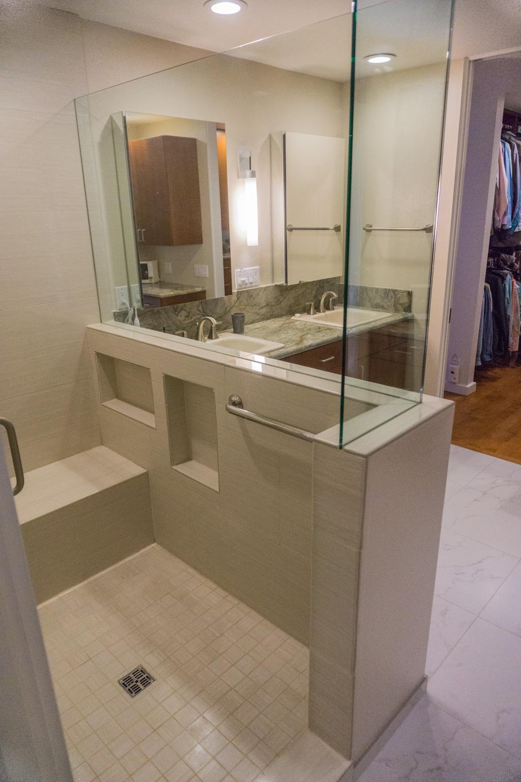 Wood Amp Stone Modern Master Bath Danilo Nesovic Designer