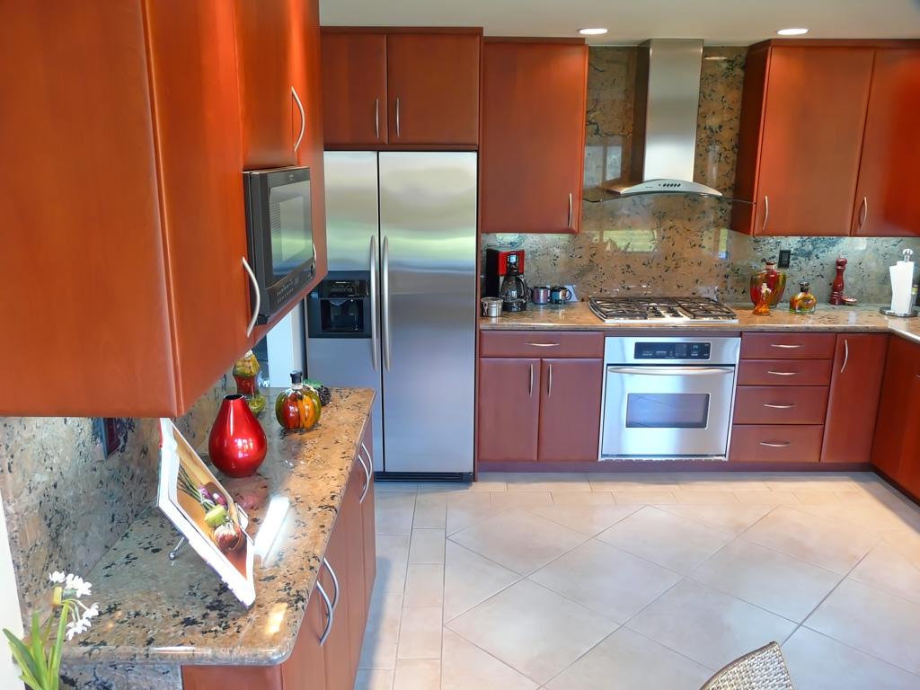 Sleek Modern Red Cherry Kitchen Danilo Nesovic Designer