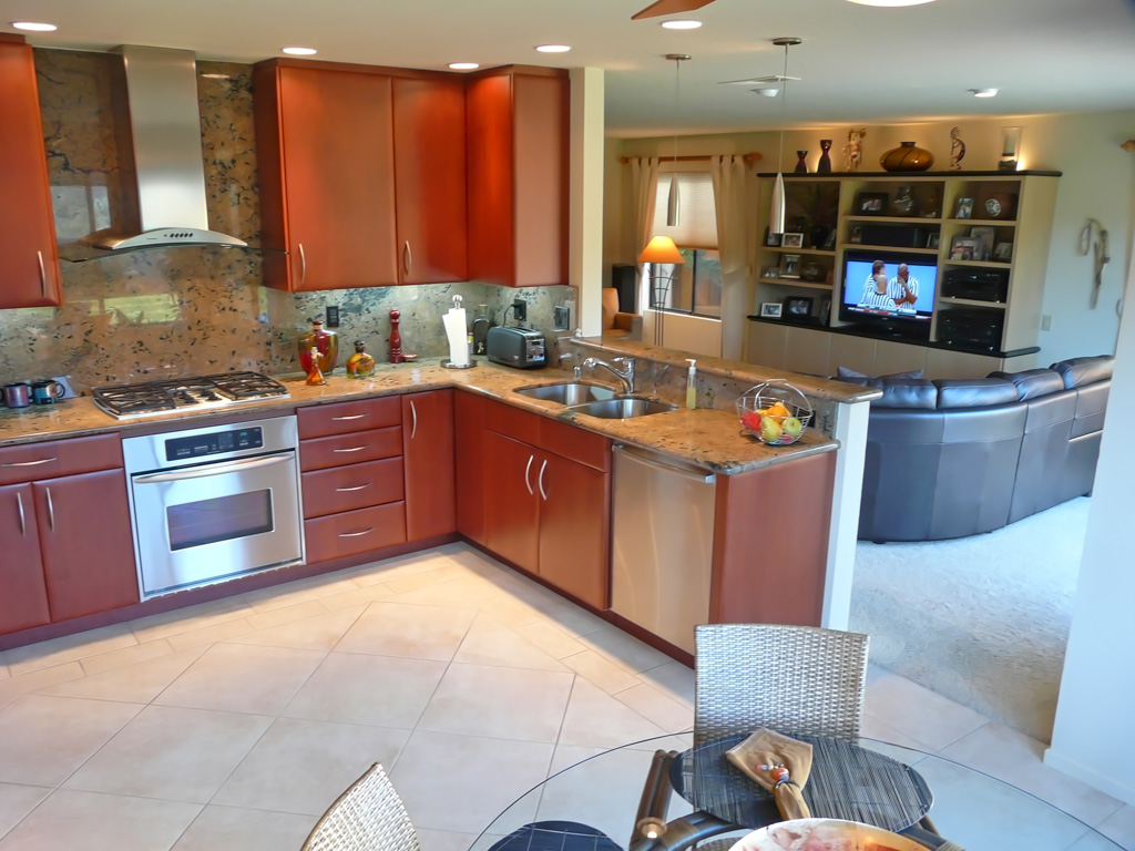 Sleek modern red cherry kitchen danilo nesovic designer for Sleek modern kitchen cabinets