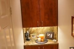 Master Bathroom Private Toilet Room Storage Cabinet & Counter