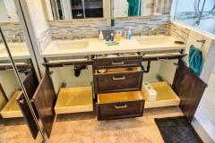 Master Bath Cabinet Storage