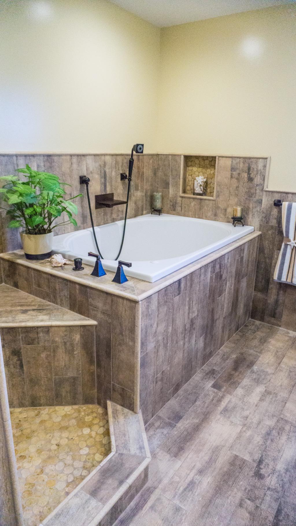 Earthy Wood Amp Glass Master Bath Danilo Nesovic Designer